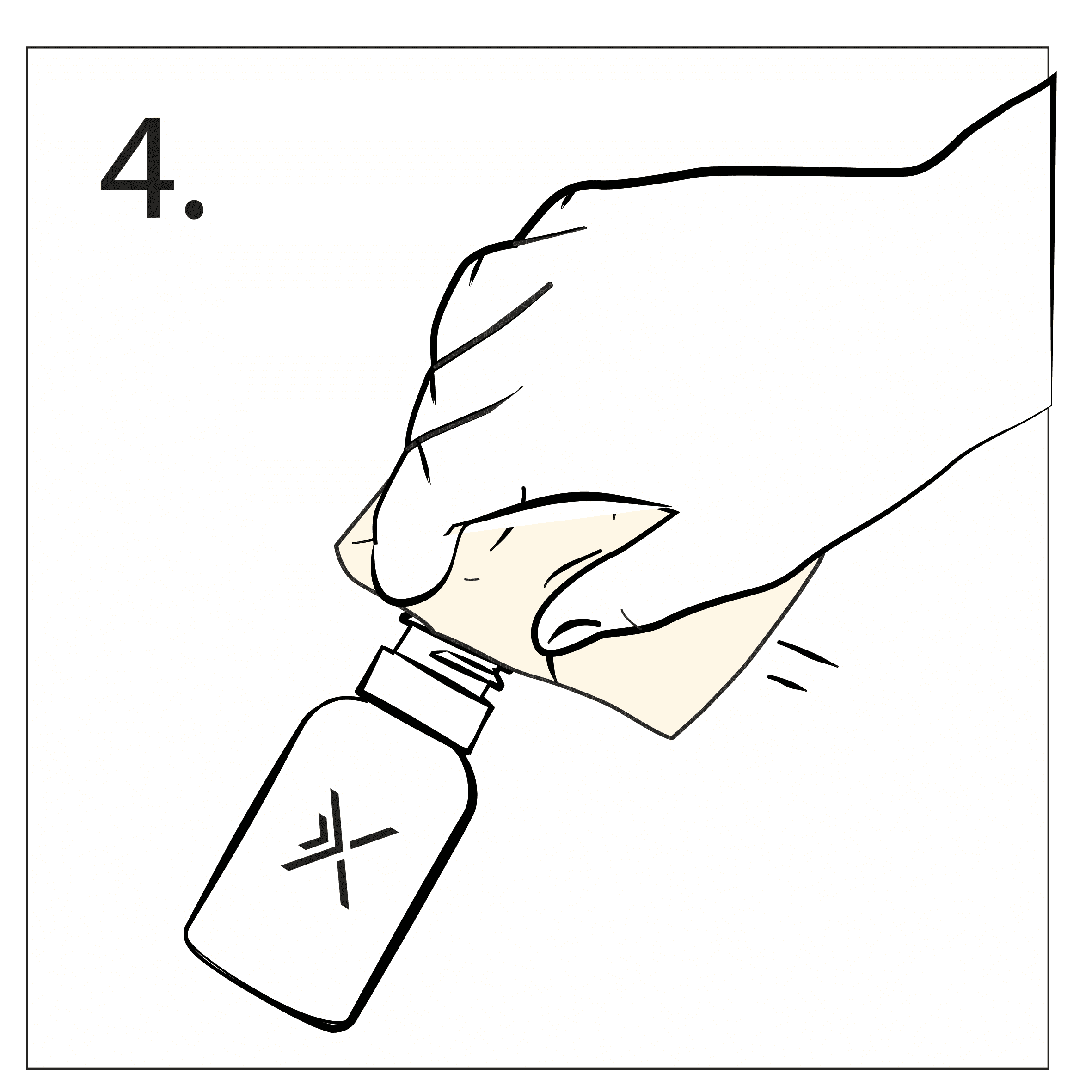 Wipe the Taffix bottle with a clean towel